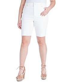 Trendy Plus Size Adored Slim Jean Shorts