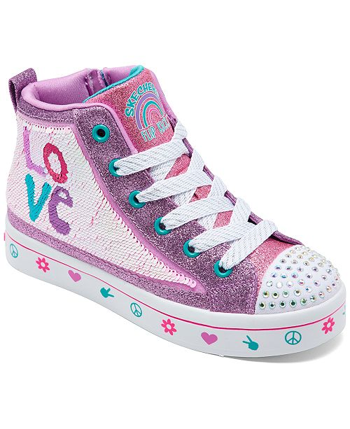 Little Girls' Flip Kicks: Twi Lites 2.0 Lilac Love High Top Casual Sneakers from Finish Line