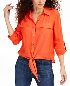 Tie-Front Top, Created for Macys
