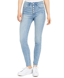 Numero Button-Fly High-Rise Ankle Skinny Jeans