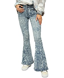 Dream Lover Printed Flare-Leg Jeans