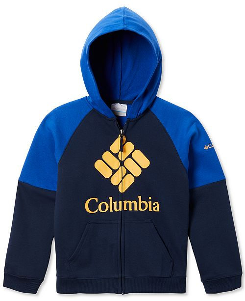 Columbia Big Boys Zip-Up Logo Hoodie