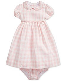 폴로 랄프로렌 여아용 원피스 Polo Ralph Lauren Baby Girls Gingham Dress & Bloomer,Pink Multi