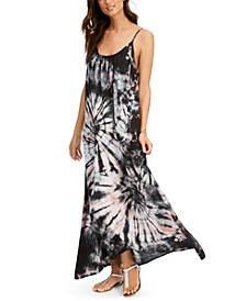 Tie-Dyed Maxi Dress Cover-Up