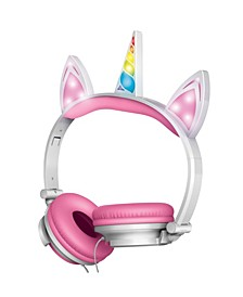 Unicorn Wired Headphones with LED Lights