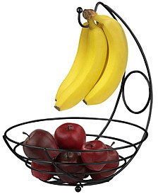 Wire Collection Fruit Bowl with Banana Tree