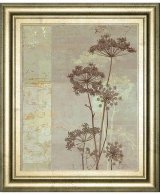 Silver Foliage I by Ella K. Framed Print Wall Art, 22