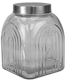 HDS TRADING CORP Heritage Glass Jar with Silver Lid