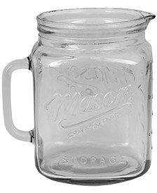 HDS TRADING CORP Glass Mason Jar Pitcher with Measurement Markings and Easy Grip Handle