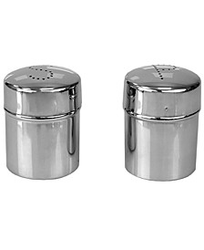 Stainless Steel Salt and Pepper Set with Perforated Labeled Sifter Top, Set of 2