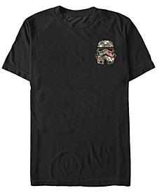 Star Wars Men's Storm Trooper Floral Pocket Short Sleeve T-Shirt