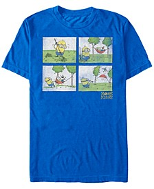 Minions Men's Comic Book Panels Short Sleeve T-Shirt