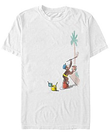 Curious George Men's Watercolor Painting Palms Short Sleeve T-Shirt