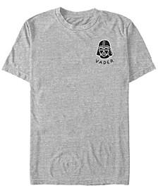 Star Wars Men's Darth Vader Small Helmet Patch Short Sleeve T-Shirt