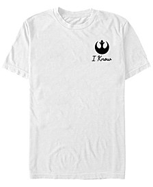 Star Wars Men's Han's Classic Quote Short Sleeve T-Shirt