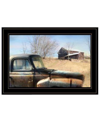 Vintage-Like Farm Trucks by Lori Deiter, Ready to hang Framed Print, White Frame, 21