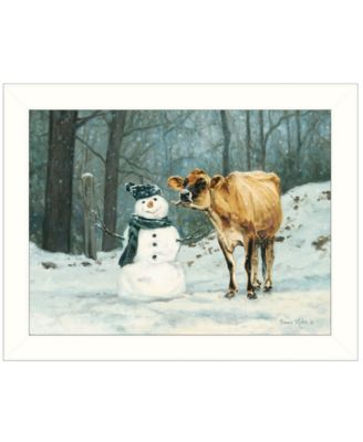Well Hello There by Bonnie Mohr, Ready to hang Framed Print, Black Frame, 19