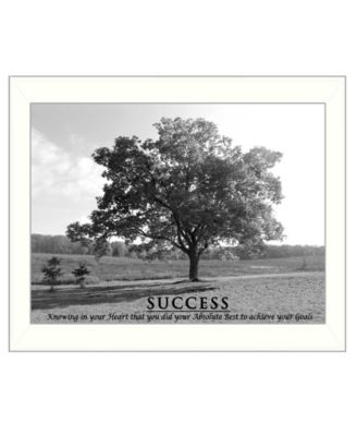 Success By Trendy Decor4U, Printed Wall Art, Ready to hang, White Frame, 14