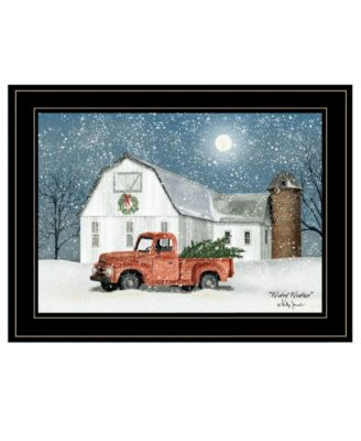 Wintry Weather by Billy Jacobs, Ready to hang Framed Print, White Frame, 19