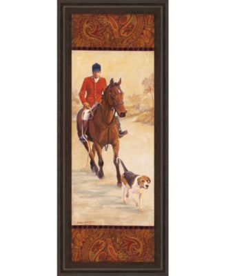 on The Hunt Il by Linda Wacaster Framed Print Wall Art - 18