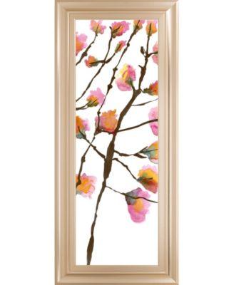 Inky Blossoms II by Deborah Velasquez Framed Print Wall Art - 18