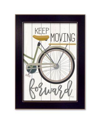 Moving Forward By Marla Rae, Printed Wall Art, Ready to hang, Black Frame, 14