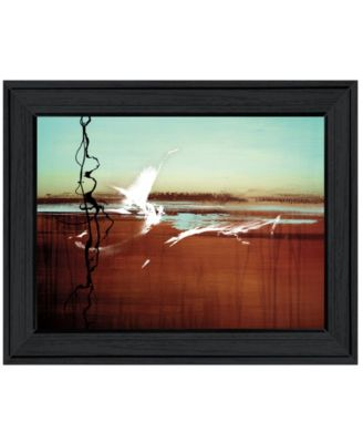 Liquid Paint by Cloverfield Co, Ready to hang Framed Print, White Frame, 19