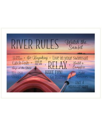 River Rules by Lori Deiter, Ready to hang Framed Print, White Frame, 20