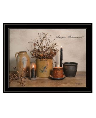 Simple Blessings by Billy Jacobs, Ready to hang Framed Print, Black Frame, 15