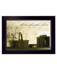 Trendy Decor 4U Live, Laugh and Love By Billy Jacobs, Printed Wall Art, Ready to hang Collection