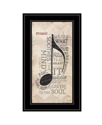 Music by Marla Rae, Ready to hang Framed Print, White Frame, 12