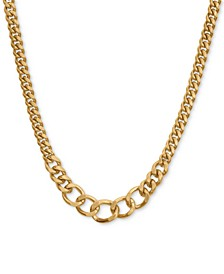 "Heavy-Link Collar Necklace, 17"" + 2"" extender"