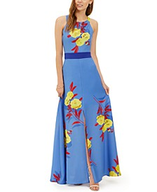 Polly Bow-Back Floral-Print Maxi Dress