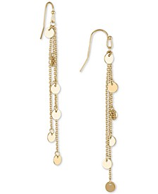 Gold-Tone Shaky Chain Linear Earrings