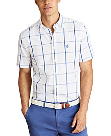 Men's Striped Cotton Broadcloth Shirt, Created for Macy's