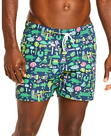 Men's Croco Series Jeremyville® Swim Trunks