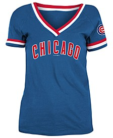 Chicago Cubs Women's Contrast Binding T-Shirt