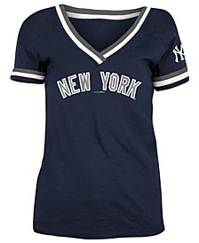 New York Yankees Women's Contrast Binding T-Shirt