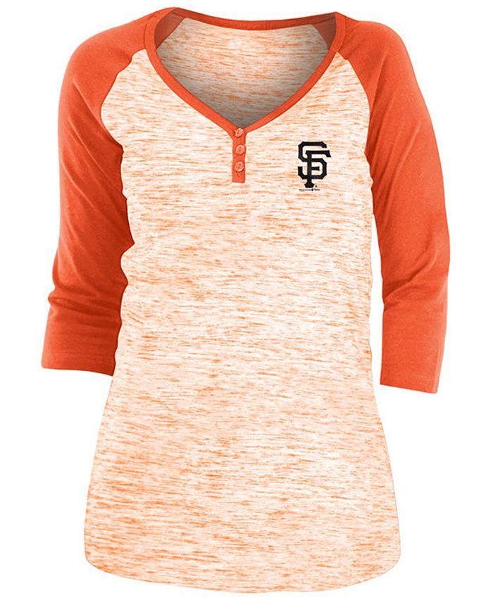 5th & Ocean - San Francisco Giants Women's Space Dye Raglan Shirt