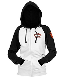 San Francisco Giants Women's Zip-Up Contrast Hoodie