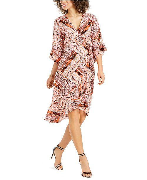 Thalia Sodi Ruffled Wrap Dress, Created for Macy's