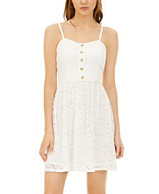 Juniors' Lace A-Line Dress