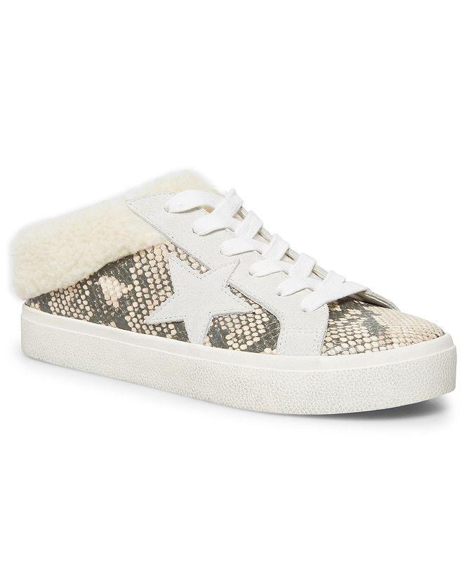Steve Madden Women's Polaris Faux-Fur Backless Sneakers