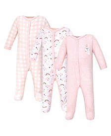 Baby Girls Unicorn Sleep and Play, Pack of 3