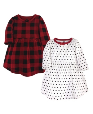 Hudson Baby Kids' Baby Toddler Girls Classic Holiday Dresses, Pack Of 2 In Multi