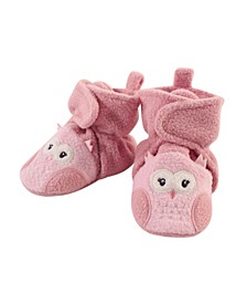 Baby Girls Owl Cozy Fleece Booties