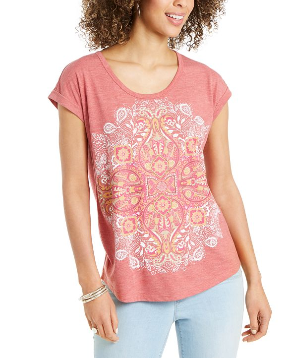 Style & Co Graphic T-Shirt, Created for Macy's
