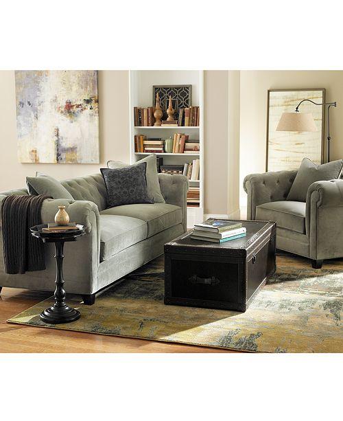 Saybridge 52 Fabric Armchair, Created for Macy\'s