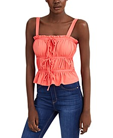 INC Ruched Tie Tank Top, Created for Macy's