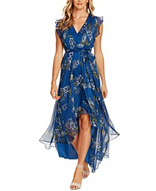 Weeping Willows High-Low Wrap Dress